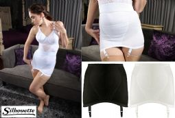Silhouette Lingerie Control Shapewear Open Girdle with Garters ( MX153 )